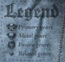 Map of Metal - Legend