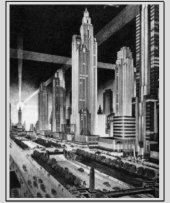 Chrystie-Forsyth Parkway and its skyscrapes Art Deco style, 1929/ Le Chrystie-Forsyth Parkway et ses gratte-ciels art déco, 1929 (source : www.nottingham.ac.uk)