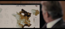 Zoom on voting intentions for the Front National / Zoom sur la carte des intentions de vote pour le Front National