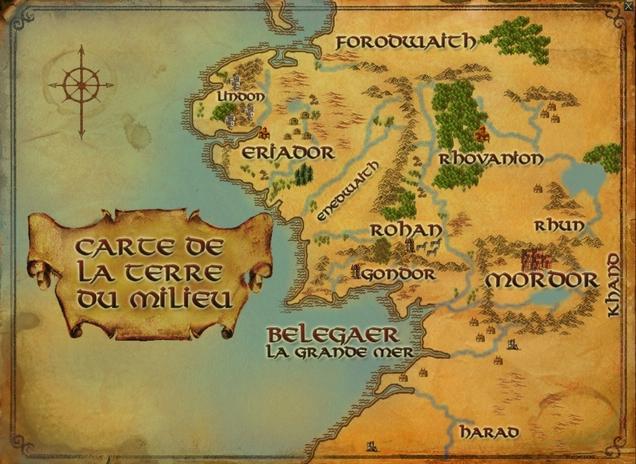 Carte Terre Du Milieu Premier Age.Le Seigneur Des Anneaux Les Cartes Des Mondes Imaginaires