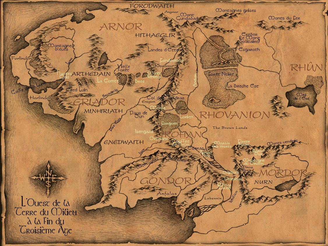 Le seigneur des anneaux les cartes des mondes imaginaires de tolkien the lord of the rings - Tatouage seigneur des anneaux ...