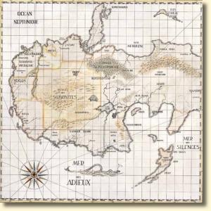 Carte des Cités obscures (copyright Casterman)