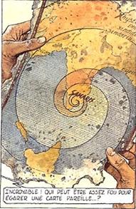 Extrait d'une carte trouvée par Roland (copyright Casterman)