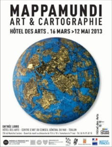 Affiche de l'exposition MAPPAMUNDI. Art et cartographie