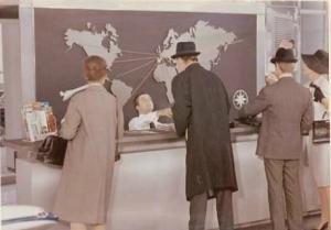 Arrivée des passagers à l'aéroport