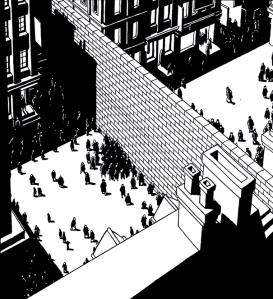 Des murs érigés en pleine nuit viennent peu à peu bouleverser le fonctionnement de la Cité.