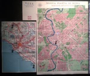 L'une des nombreuses cartes et plans de Rome qui localisent les lieux d'importance pour Pasolini (copyright Cinémathèque française, 2013)
