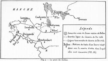 """Le pays de Balbec et ses """"emprunts géographiques"""""""