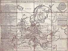 ")""A journey through Europe or The Play of Geography"" premier jeu de société de John Jefferys, 1759)"