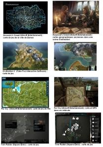 (Exemples de l'utilisation de cartes dans les jeux videos)