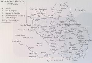 Carte du Royaume d'Aghâr (copyright Le Seuil)