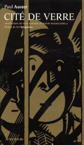 """""""Cité de verre"""", page de couverture (Copyright ACTES SUD BD, 2005)"""