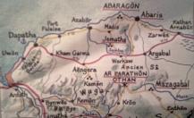 Carte manuscrite du Royaume d'Aghâr, détail de la partie nord-ouest (copyright Le Seuil)