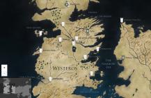 Westeros et Essos map (HBO's website) / Carte de Westeros et Essos (Site de HBO)