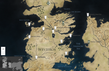 Westeros et Essos map (HBO's website) / Carte de Westeros et Essos (Site de HBO)