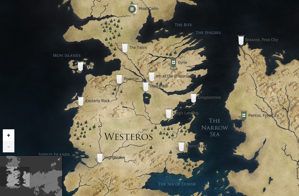 Westeros et Essos map (HBO's website) / Carte de Westeros ...