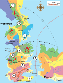Game of Thrones geologic map