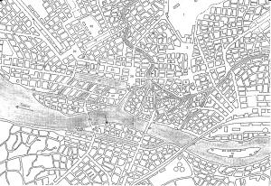 (Une partie du plan d'Olonne. Copyright C. Bourgois, 2010)