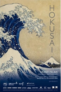 (Affiche de l'exposition Hokusai, © Affiche Rmn-Grand Palais, Paris 2014)