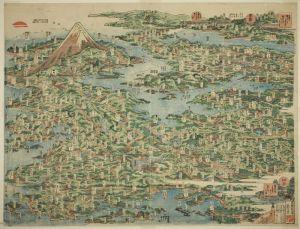 (Panorama des sites célèbres sur la route de Tokaido)