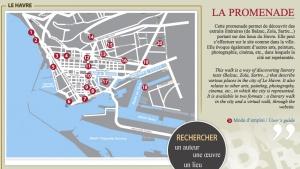 Carte de la promenade Littéraire