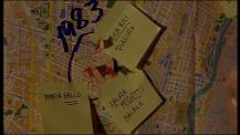 Police captain Moretti's map / La carte du Commissaire Moretti