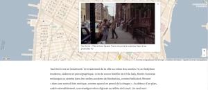 (Cartographie interactive d'un extrait de Taxi Driver géoréférencé)