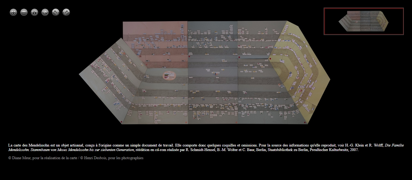 """""""La carte des Mendelssohn"""" (Diane Meur): est-ce vraiment une carte ? / Is it really a map ?"""