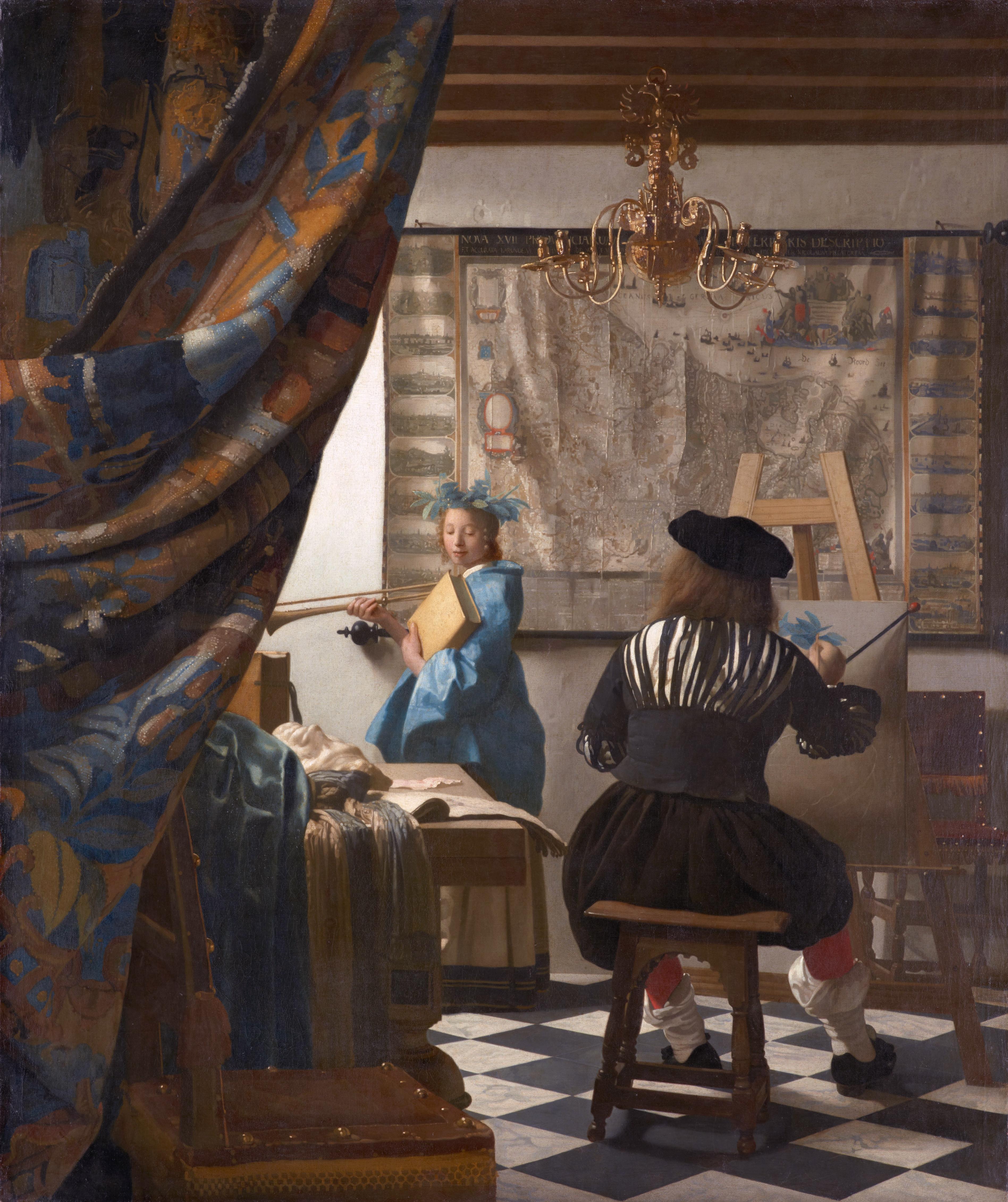 Les cartes dans la peinture de Vermeer / Maps in Vermeer's paintings