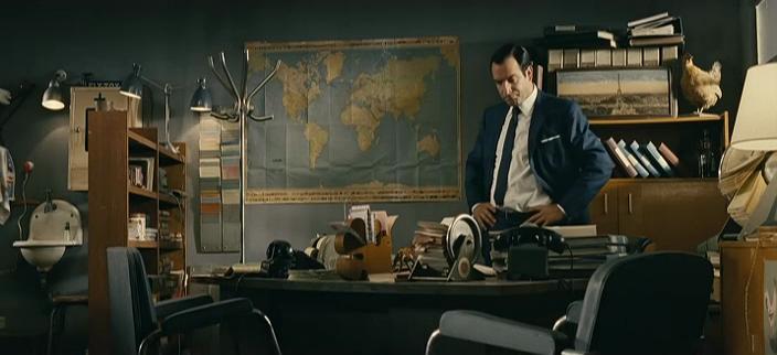 OSS 117 Le Caire, nid d'espions : un planisphère vintage