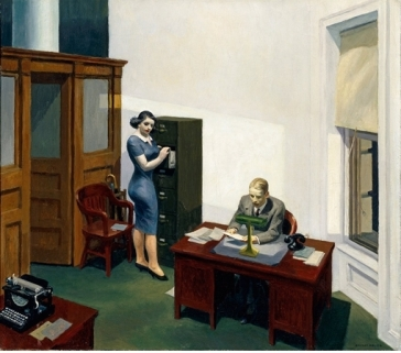 La nuit au bureau d'Edward Hopper (Minneapolis, Collection Walker Art center), 1940