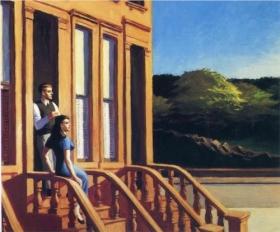Soleil sur les pierres brunes d'Edward Hopper (Wichita Art Museum), 1956