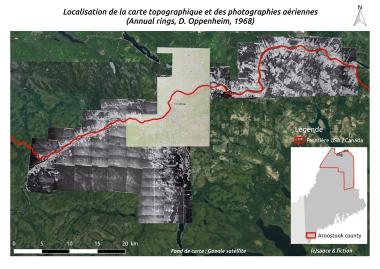 Carte 1 : Localisation de la carte topographique et de photographies aériennes
