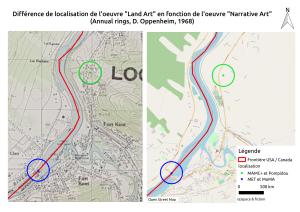Carte 2 : Différentes localisations pour une même œuvre