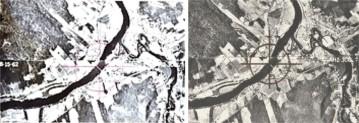 Localisation sur l'oeuvre du MET(à gauche) et du MoMA (à droite)