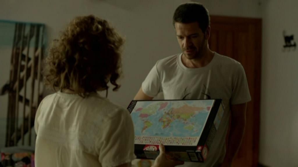 La carte-puzzle d'Ouri et Nourit dans Hatufim
